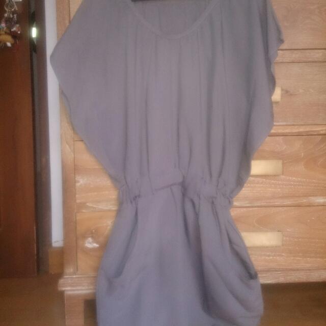 Gray Mini Dress