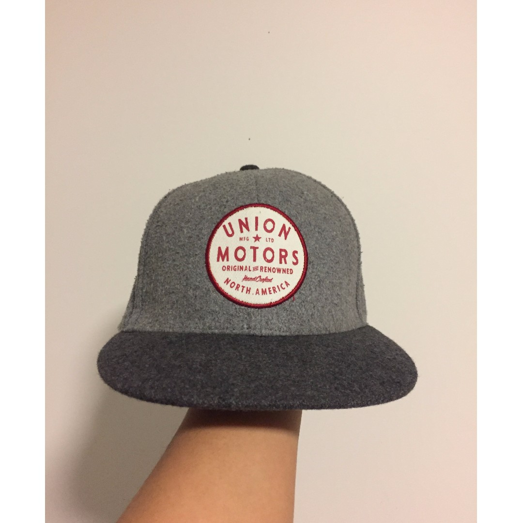 Grey Snapback Cap