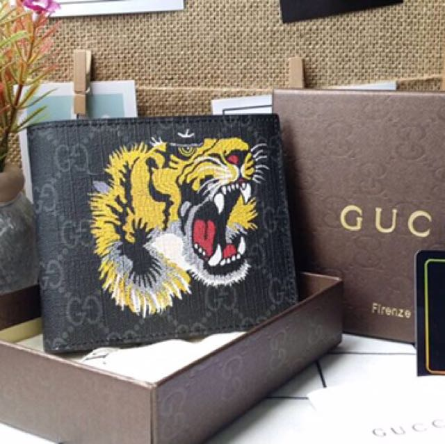 5395731be14f gucci supreme tiger wallet men, Men's Fashion, Bags & Wallets on Carousell