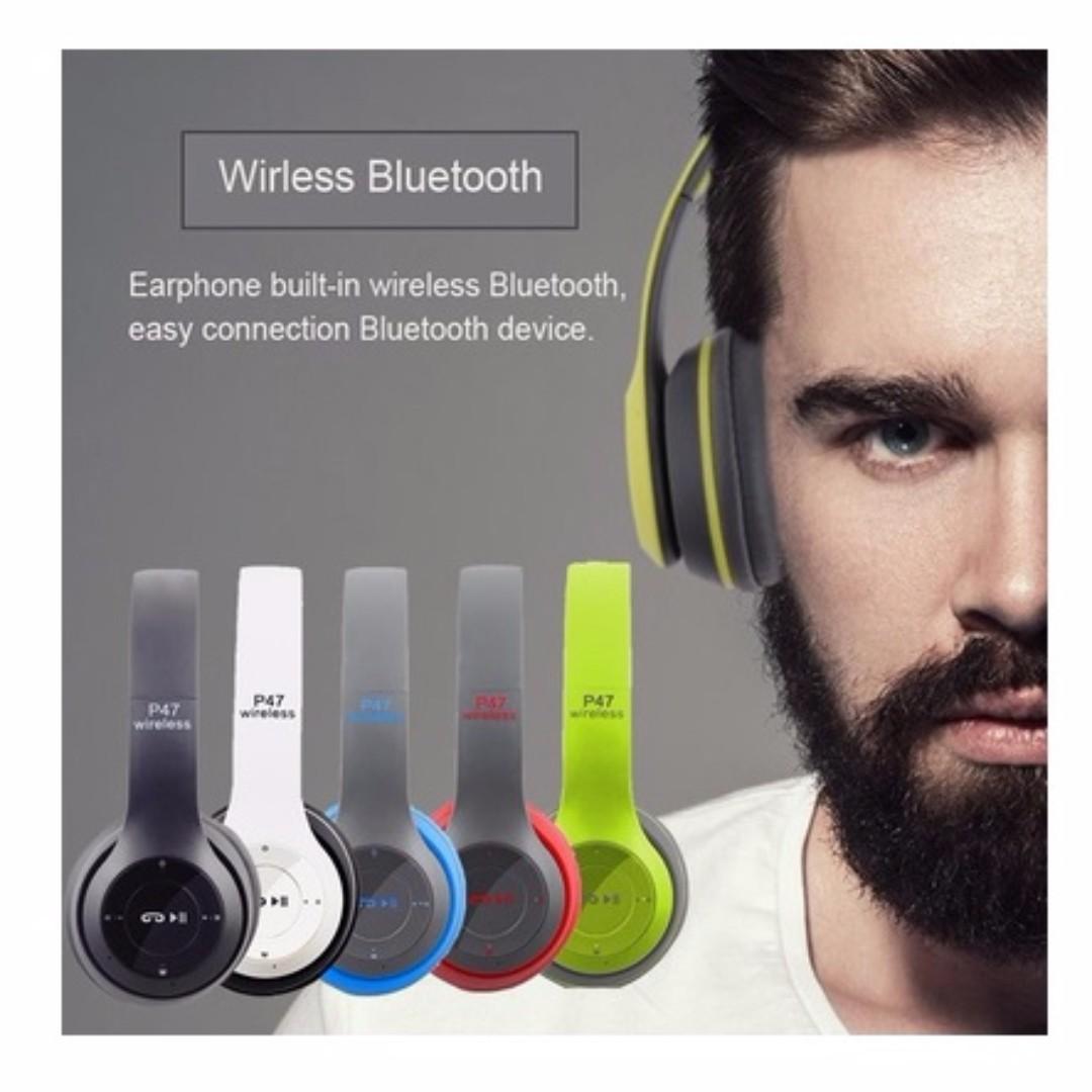 Headband Foldable Stereo Bluetooth Headphones Wireless Headset Noise
