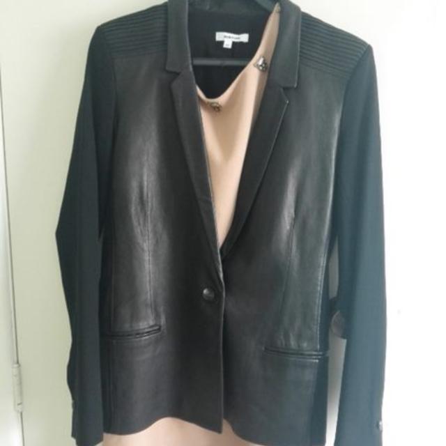 Helmut Lang Leather Blazer