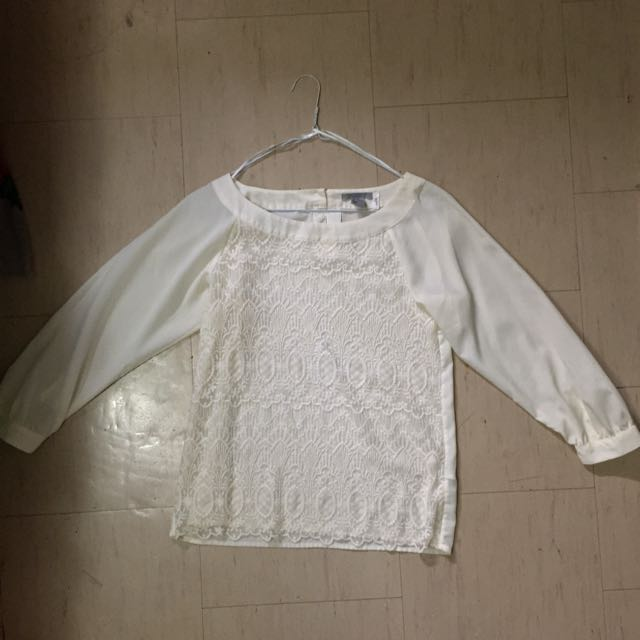 H&M Embroidered Lace Long Sleeve