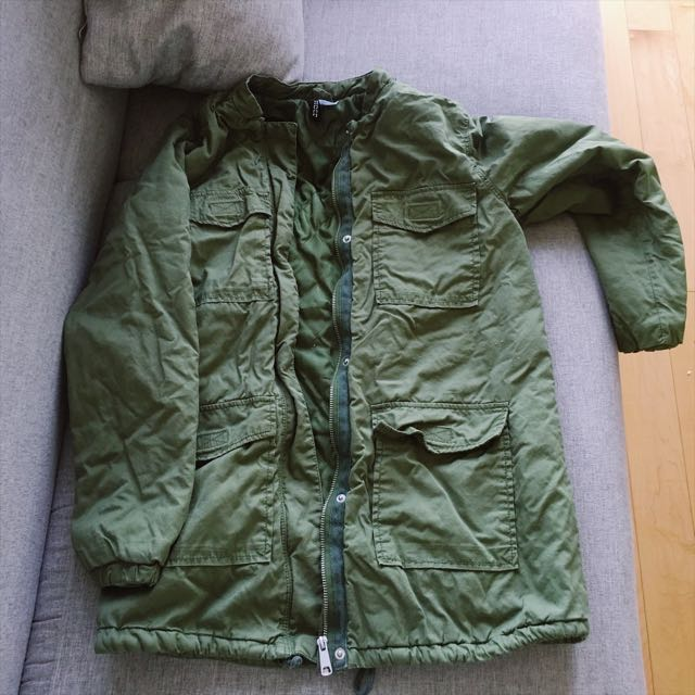 HM Military Green Quilt Jacket