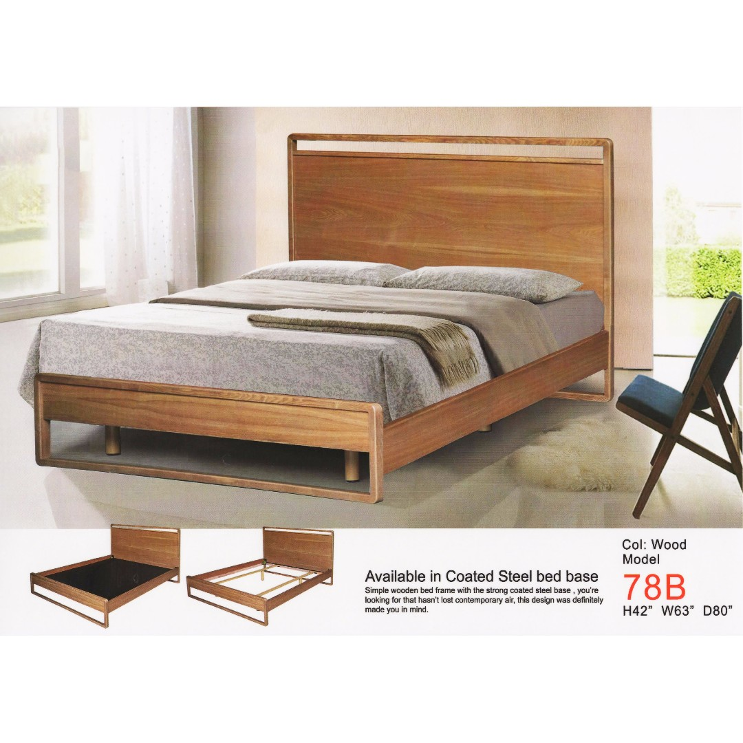 hommage wooden bed with steel base furniture beds mattresses on