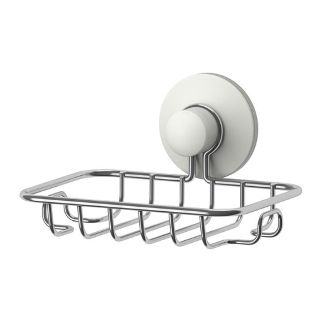 IKEA IMMELN Soap dish   shower toiletries holder tray basket ... aa3b685d9e1b8