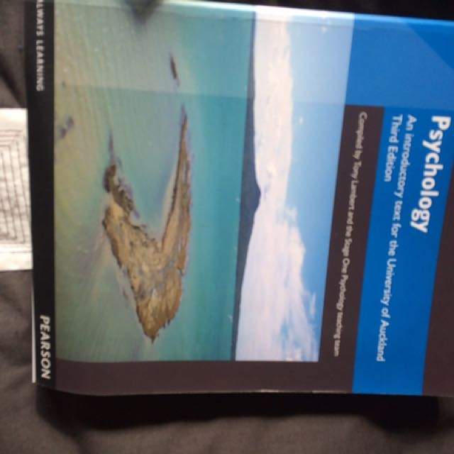 Introduction To Psychology For The University Of Auckland