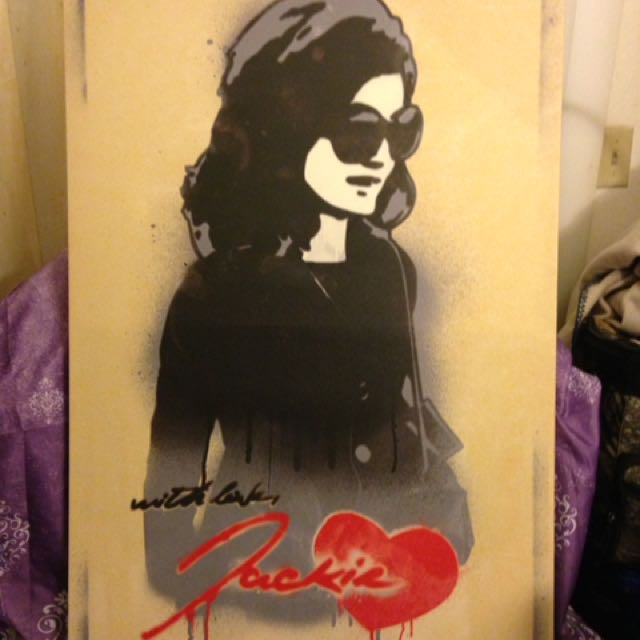 Jackie Onassis Canvas Painting Body Shop