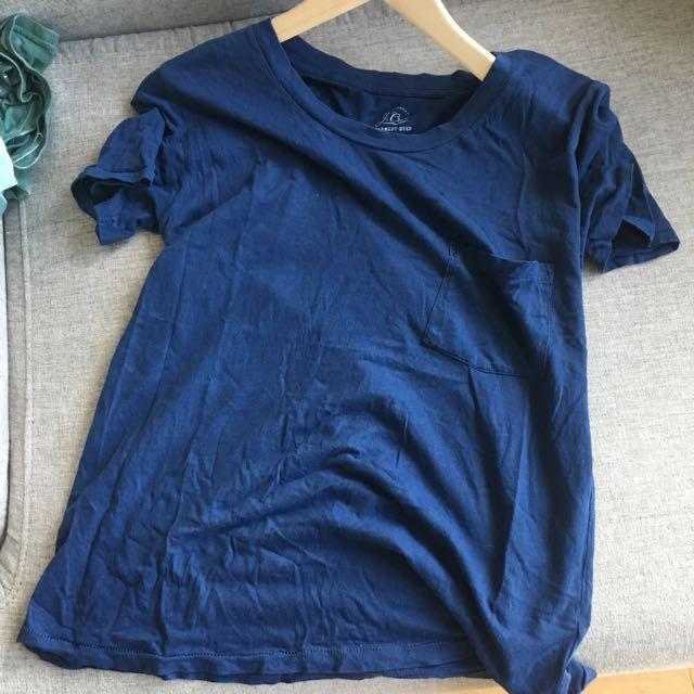 J.Crew Navy Blue T-shirt (XS)
