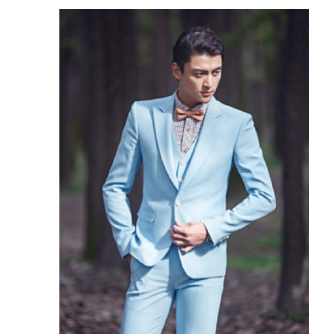 Light Blue color men suit Wedding/Bridal Groom\'s /Best Man Suit ...
