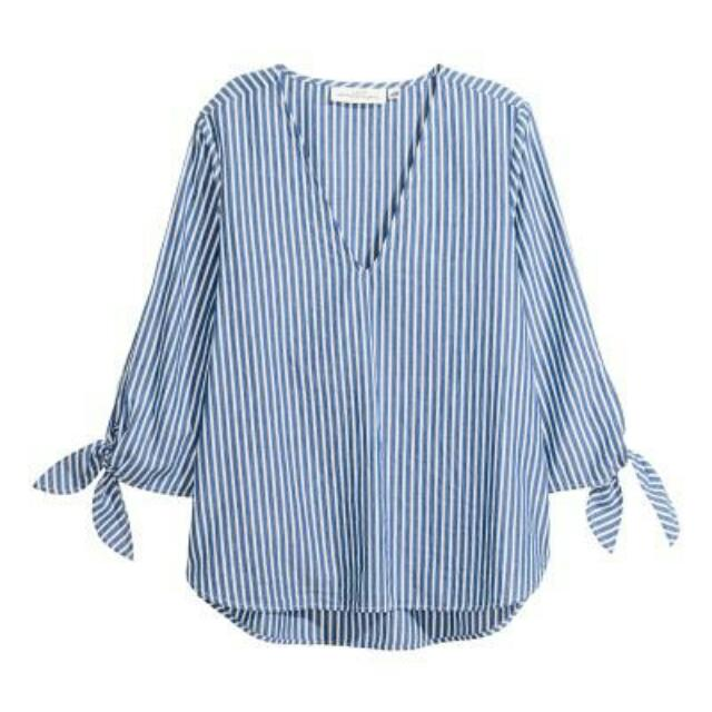 (NEW) H&M STRIPED BLOUSE