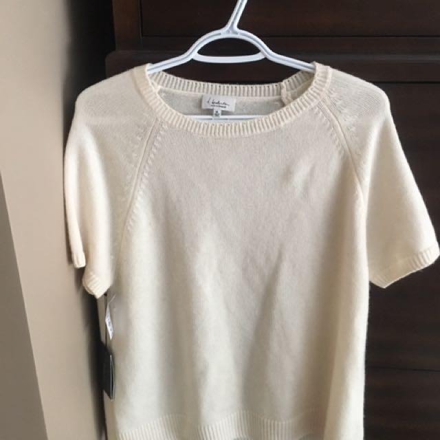 Off White Babaton (aritzia) Cashmere ss Sweater