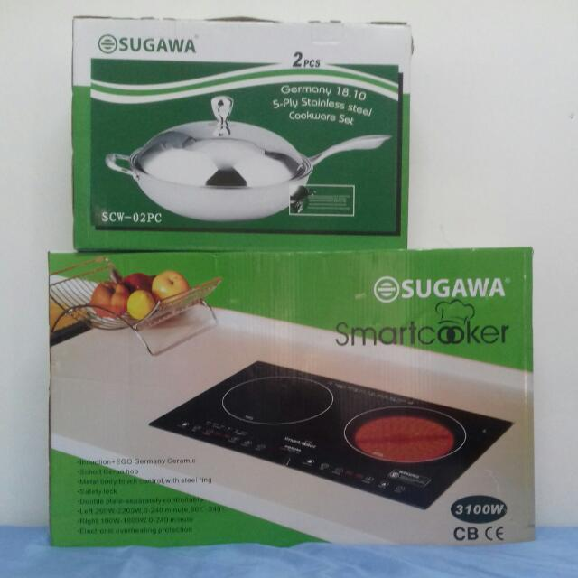 Sugawa Smart Cooker Comes With Stainless Steel Wok Kitchen Liances On Carou