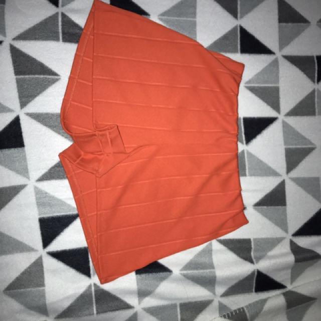 Orange Bubble Shorts