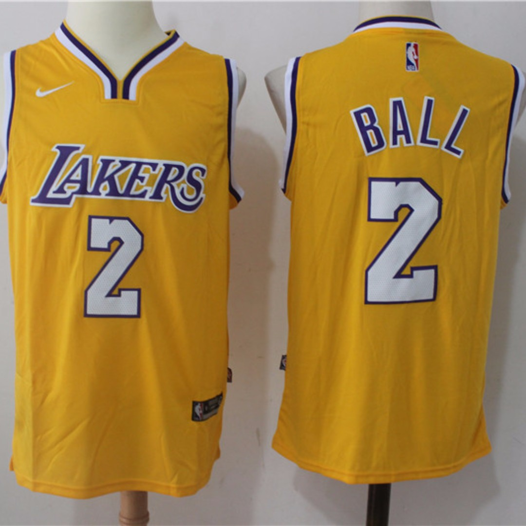 c633733f47b Carousell의  PO  2017 Los Angeles Lakers Lonzo Ball Home Swingman ...