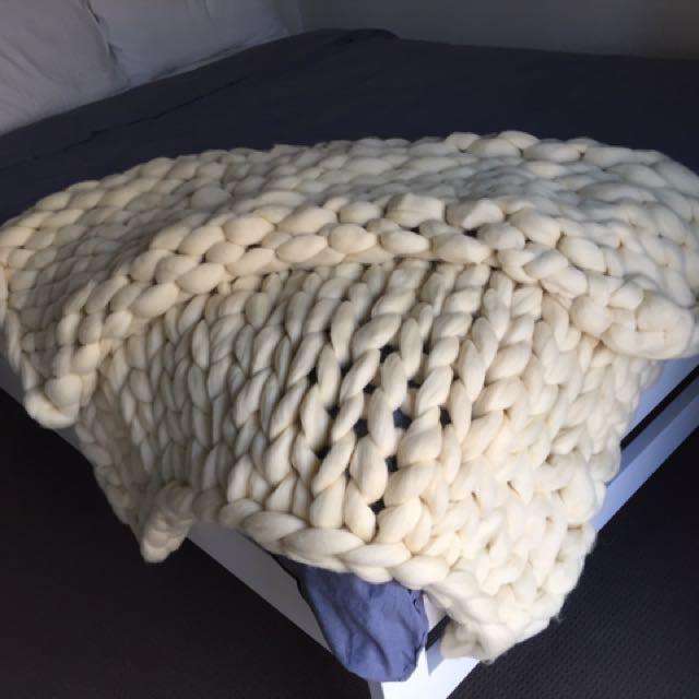 Raw Wool Blanket
