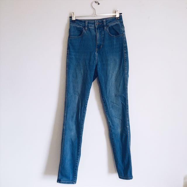 riders by lee high waisted blue denim jeans