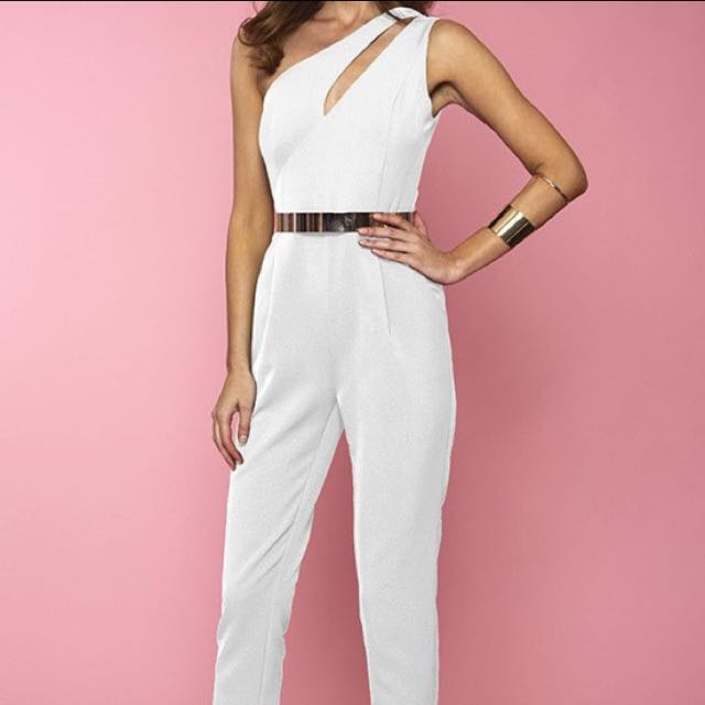 Runway White Jump Suit