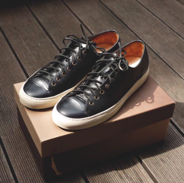 Sepatu Buttero LEATHER TANINO LOW SNEAKERS COLOR BLACK ORIGINAL
