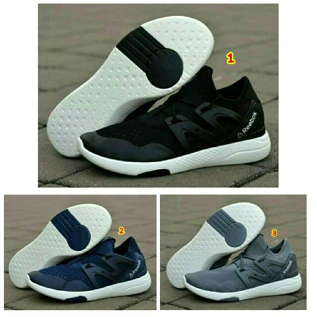 Sepatu reebok classic putih hitam navy terbaru 2017 murah fullblack trend  branded 80cff019b6