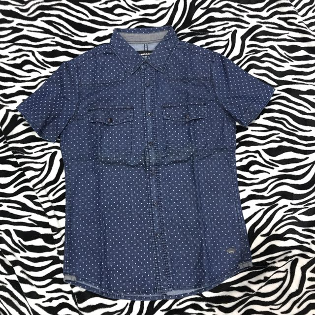 S&K polka denim blue shirt