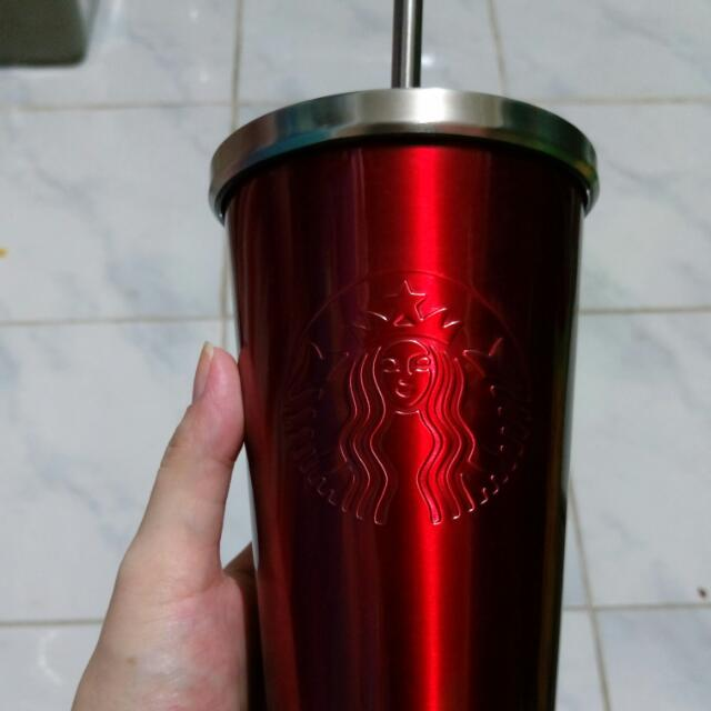 Starbucks Stainless cup with Straw