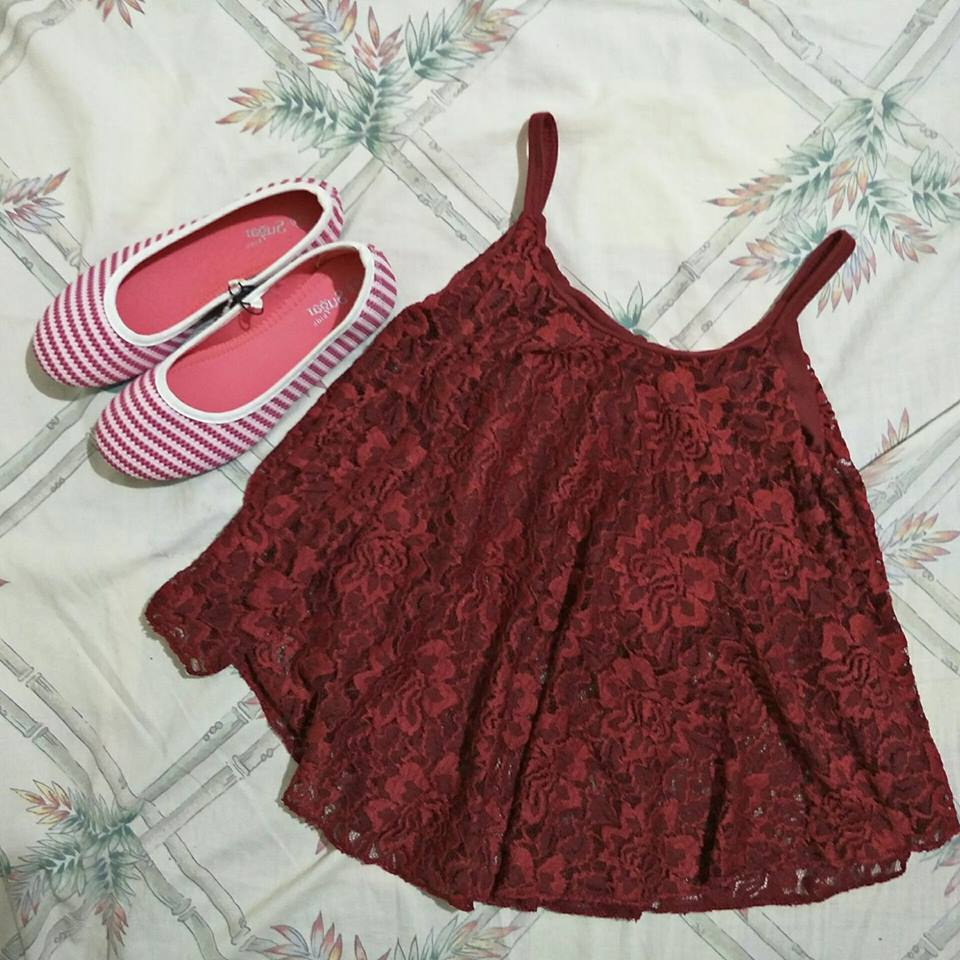 Stringed Ruffled Top @ Php 90.00
