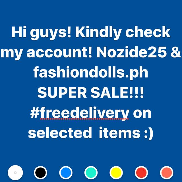 SUPER SALE!! ( Free Delivery On Selected Items)