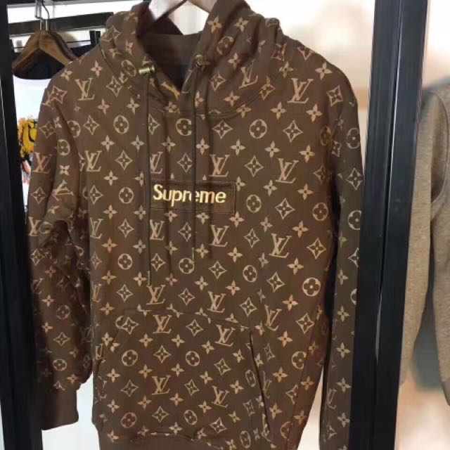 Supreme X Louis Vuitton Box Logo Hoodie Sz M
