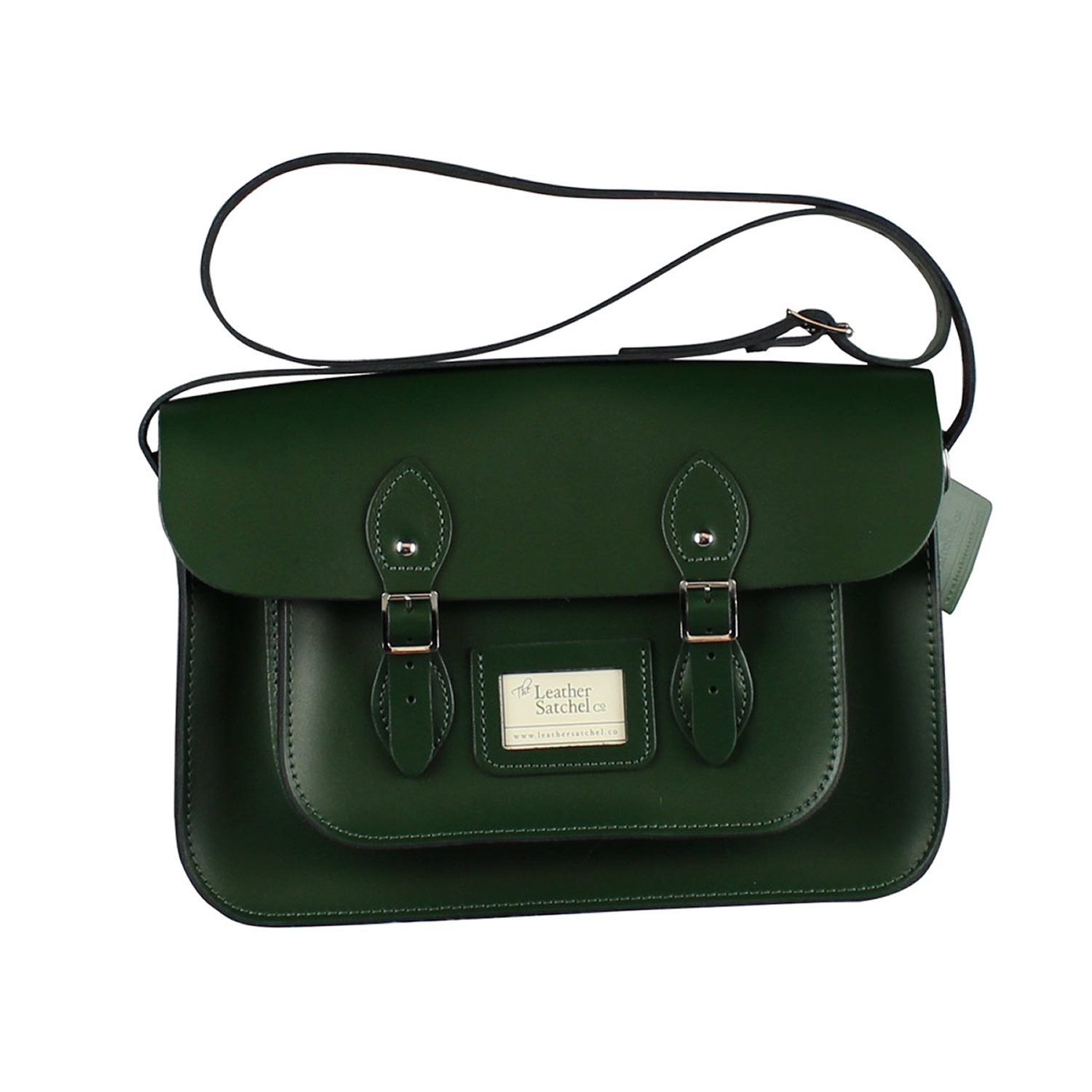 The Leather Satchel Co Uk S 14 Inch Classic Racer Green Mint And New Made In Men Fashion Bags Wallets On Carou