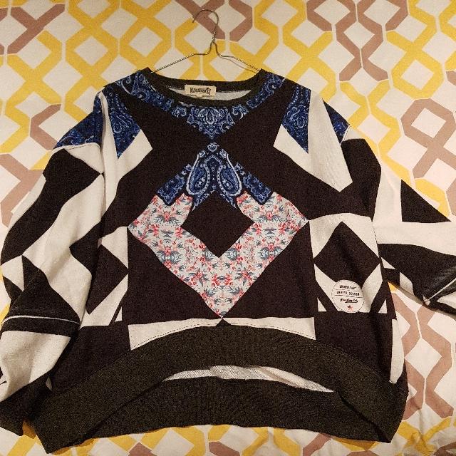 Understar Cropped Graphic Sweatshirt