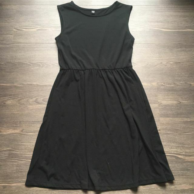 UNIQLO緊身黑棉洋裝 S