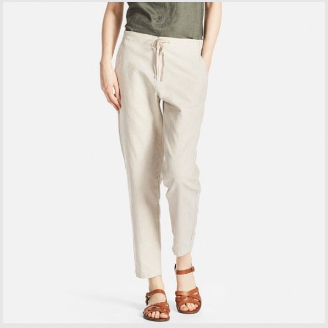 fashion incredible prices beautiful design UNIQLO WOMEN Cotton Linen Relaxed Pants