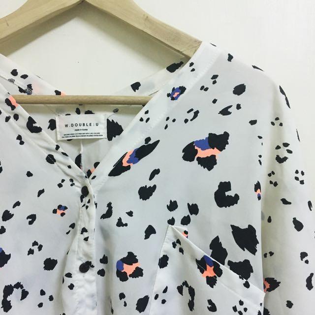 韓國絲質v領襯衫#含運最划算
