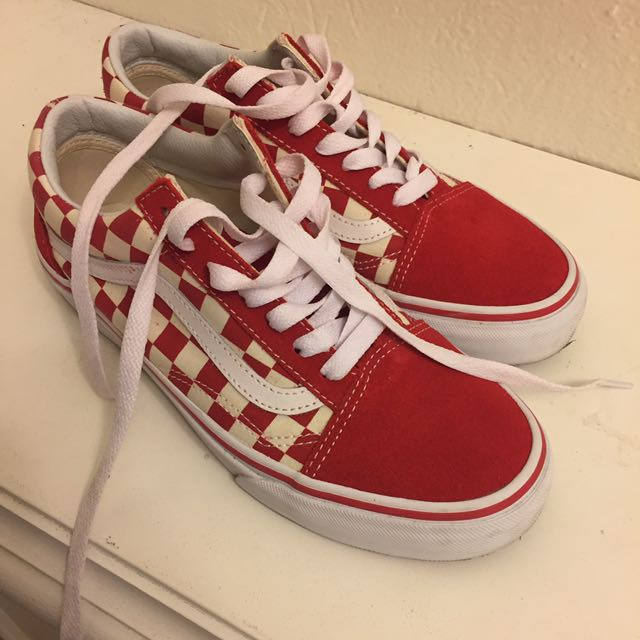 vans Oldskool Red Checkered