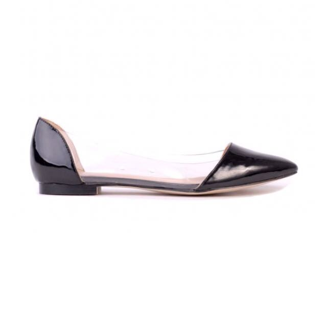 Verali Black Pointed Flats