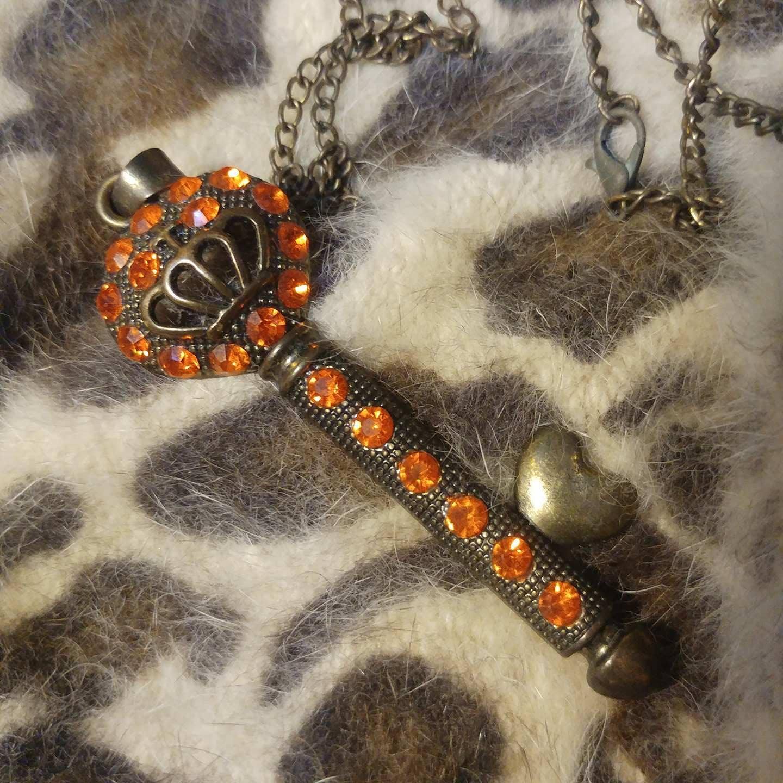 Vintage Key Long Necklace