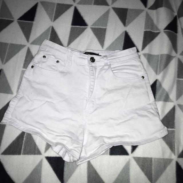 Whit Denim High Waisted Shorts