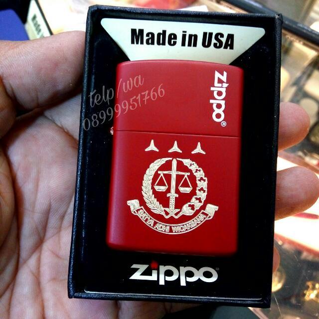 Zippo Ukir Grafir Logo Kejaksaan Bisa Tambah Nama Juga