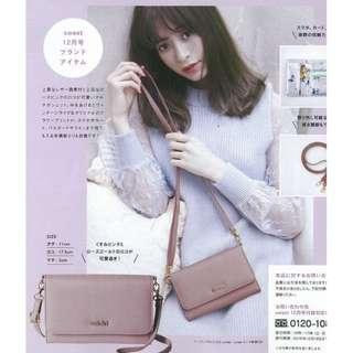 🚚 🇯🇵日本雜誌Sweet 附錄snidel粉色花卉斜背包 仿皮材質