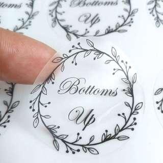 Transparent Sticker Design & Printing