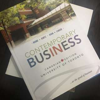 Contemporary Business - First Canadian Edition; U Of T Cover