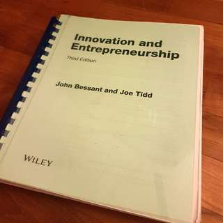 Innovation And Entrepreneurship Third Edition (2015) WILEY John Bessant And Joe Tidd