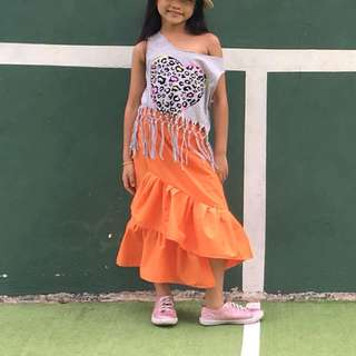 2tiered Ruffles Skirt