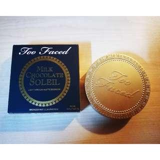AUTHENTIC Too Faced Milk Chocolate Soleil Light/Medium Matte Bronzer