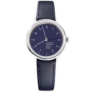 MONDAINE 瑞士國鐵設計系列限量腕錶-海軍藍/33mm