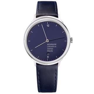 MONDAINE 瑞士國鐵設計系列限量腕錶-海軍藍/38mm