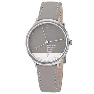 MONDAINE 瑞士國鐵設計系列限量腕錶禮盒-灰x白38mm