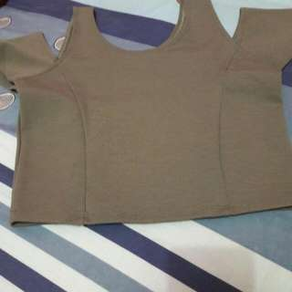Crop Top Brown