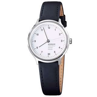 MONDAINE 瑞士國鐵設計系列腕錶-白/33mm