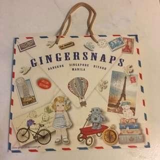 Ginger Snaps Paper Bag